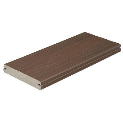 ProTect Advantage 1 in. x 5-1/4 in. x 12 ft. Chestnut Grooved Edge Capped Composite Decking Board (56-Pack)