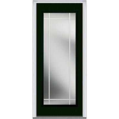 32 in. x 80 in. Classic Clear Glass PIM Full Lite Painted Majestic Steel Prehung Front Door