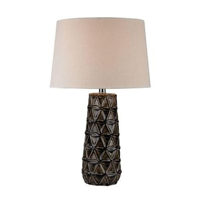 Orly 25.5 in. Chocolate Brown Glaze Table Lamp with Shade