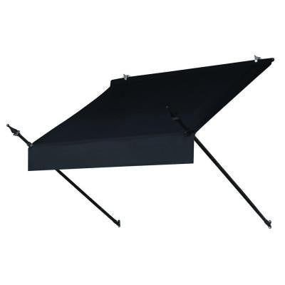 4 ft. Designer Awning (25 in. Projection) in Ebony