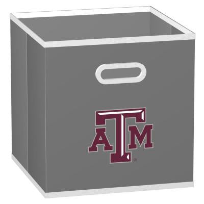 College Storeits Texas A&M University 10-1/2 in. x 11 in. Grey Fabric Storage Drawer