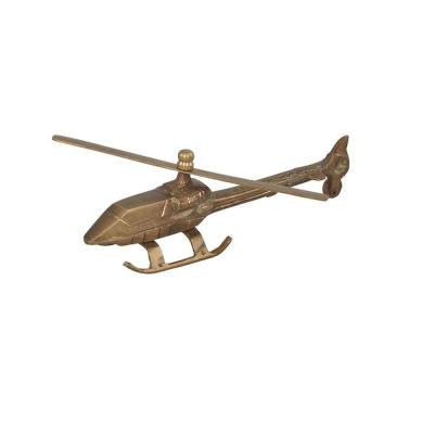 Helicopter Decorative Figurine in Brass