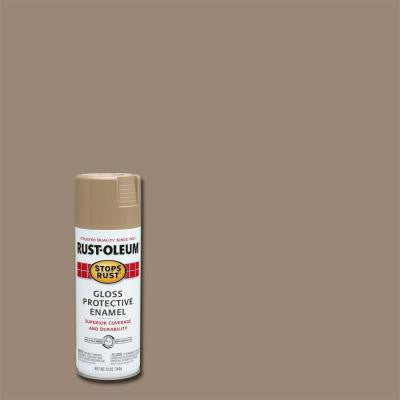 12 oz. Khaki Gloss Protective Enamel Spray Paint (6-Pack)
