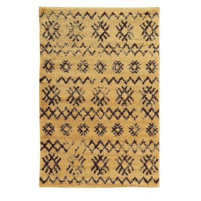 Moroccan Collection Mekenes Camel and Brown 8 ft. x 10 ft. Indoor Area Rug