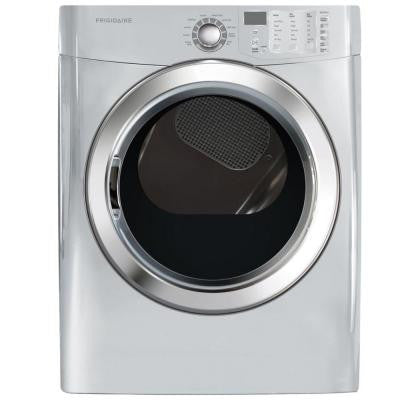 7.0 cu. ft. Electric Dryer with Steam in Classic Silver
