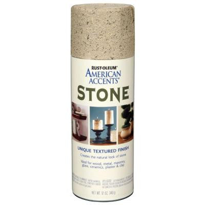 12 oz. Stone Bleached Stone Textured Finish Spray Paint (6-Pack)