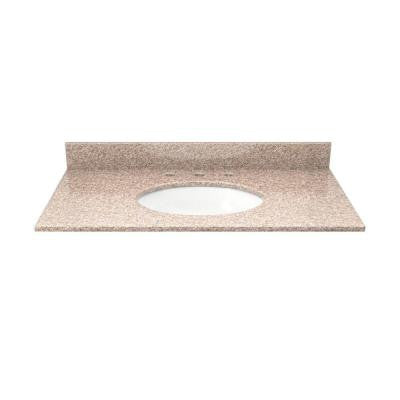 31 in. Granite Vanity Top in Wheat with White Basin