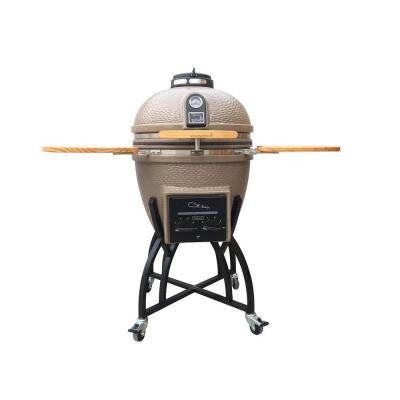 Kamado Professional Ceramic Charcoal Grill in Taupe