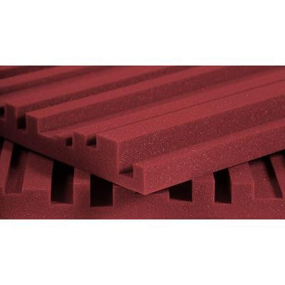 2 ft. W x 4 ft. L x 2 in. H Studio Foam Metro - Burgundy (12 Panels Per Box)