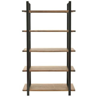 Scott Etegere 5-Shelves Bookcase in Brown