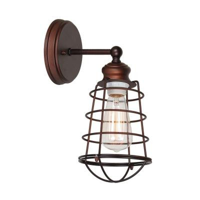 Ajax Collection 1-Light Textured Coffee Bronze Indoor Sconce