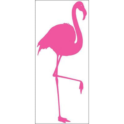 39.75 in. x 17.125 in. Pink Flamingo Wall Decal