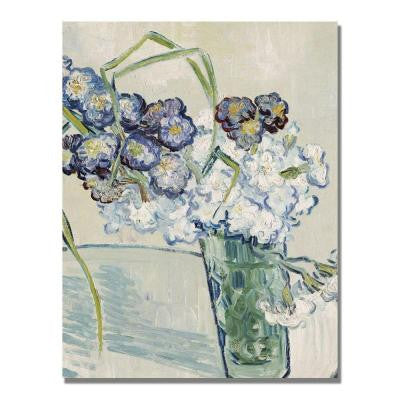 24 in. x 18 in. Still Life, Vase of Carnations Canvas Wall Art