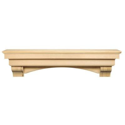 The Auburn 5 ft. Unfinished Cap-Shelf Mantel