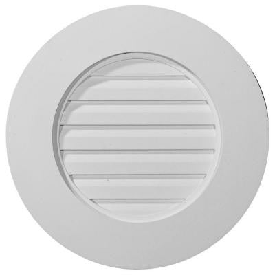 2 in. x 20 in. x 20 in. Decorative Round Gable Louver Vent