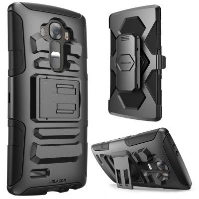 Prime Dual Layer Holster Case for LG G4 - Black