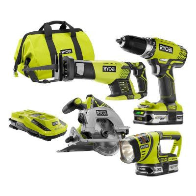 ONE+ 18-Volt Lithium-Ion Cordless Combo Kit (4-Tool)