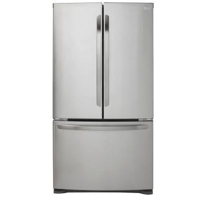 20.7 cu. ft. French Door Refrigerator in Stainless Steel, Counter Depth