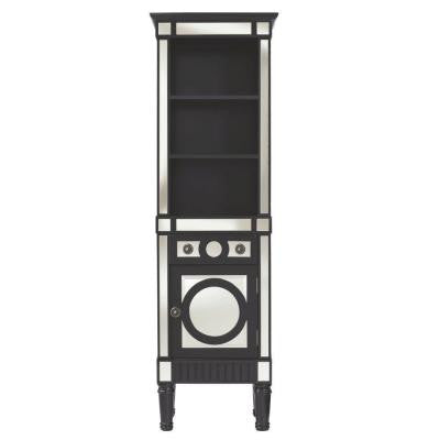 Reflections 20 in. W Empire Linen Cabinet in Black