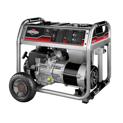 5,500-Watt Gasoline Powered Recoil Start Portable Generator with Briggs & Stratton Engine
