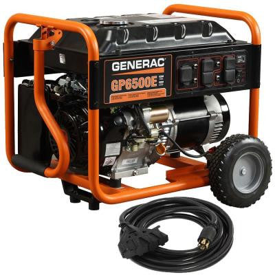 GP6500E 6,500-Watt Gasoline Powered Electric Start Portable Generator with Cord