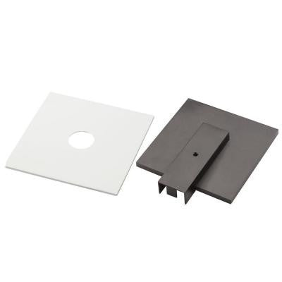 Linear Track Lighting Live-End Power Feed with White and Black Covers