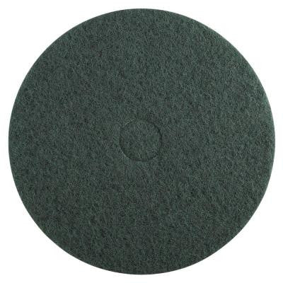 20 in. Dia Standard Heavy-Duty Scrubbing Green Floor Pad (Case of 5)
