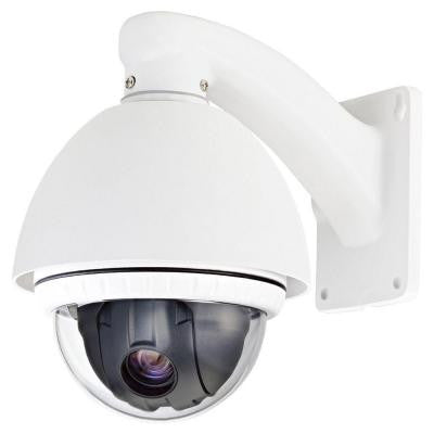 Wired 500TVL PTZ Indoor/Outdoor CCD Dome Surveillance Camera with 10X Optical Zoom