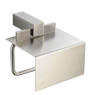 Ellite Single Post Toilet Paper Holder in Brushed Nickel