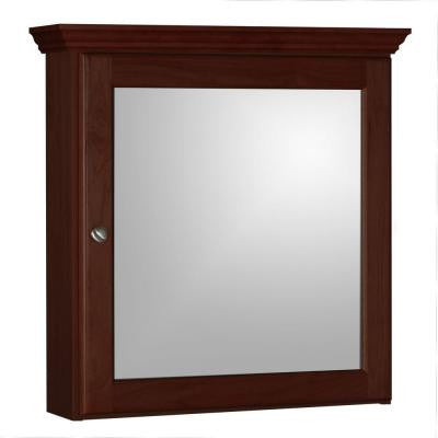 Ultraline 24 in. W x 6.5 in. D x 27 in. H Single Door Medicine Cabinet in Dark Alder