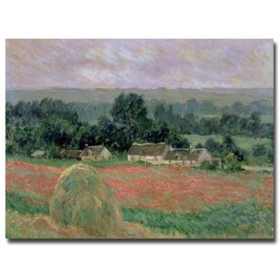 18 in. x 24 in. Haystack at Giverny 1886 Canvas Art