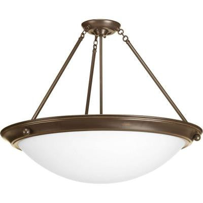 Eclipse Collection 4-Light Antique Bronze Semi-flushmount