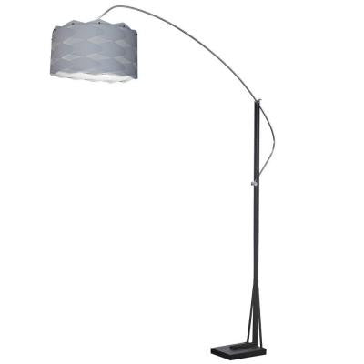 Patorida 18 in. Polished Chrome Floor Lamp