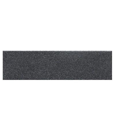 Colour Scheme Black Speckled 3 in. x 12 in. Porcelain Bullnose Floor and Wall Tile