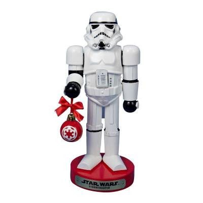 12 in. Stormtrooper with Ball Ornament Nutcracker