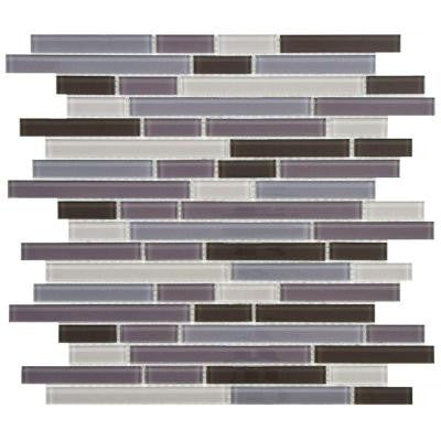 Spectrum Piano Regalia 11-3/4 in. x 11-3/4 in. x 4 mm Glass Mosaic Tile