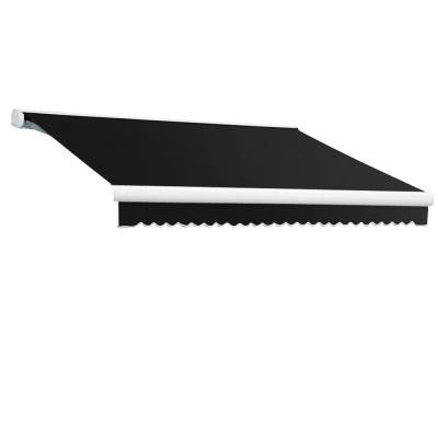 10 ft. Key West Left Motorized Retractable Awning (120 in. Projection) in Black