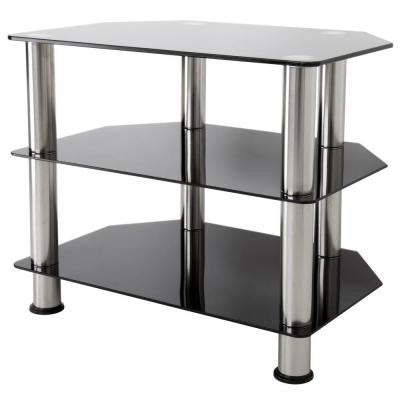 Glass and Chrome TV Stand for 32 in. TVs