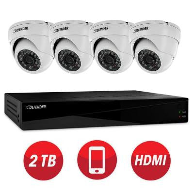 Connected Pro 8-Channel 960H 2TB Surveillance System with (4) 800TVL Camera