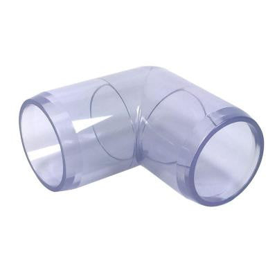 1/2 in. Furniture Grade PVC 90-Degree Elbow in Clear