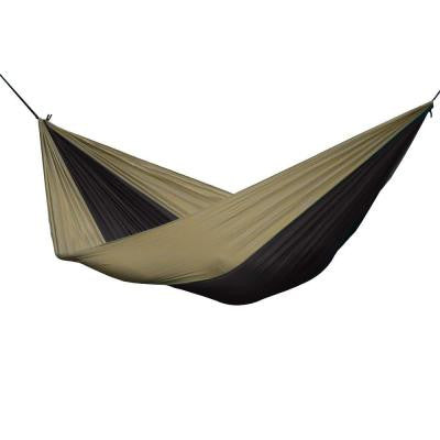 10 ft. Parachute Double Hammock in Black/Sand