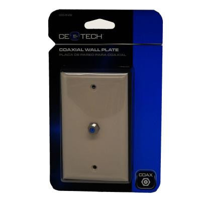Coaxial Cable Wall Plate - Light Almond