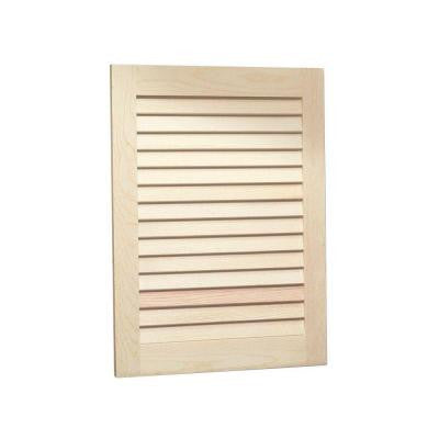 Louvered 16 in. W x 26 in. H x 4.5 in. D Recessed Medicine Cabinet in Unfinished Pine