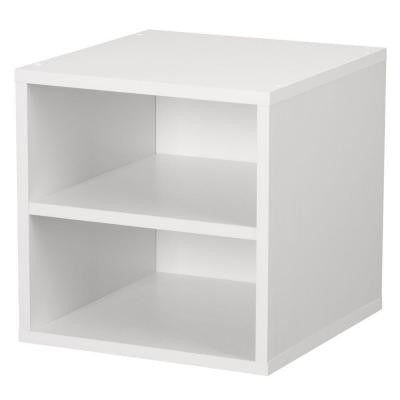 15 in. White Shelf Cube