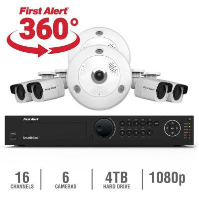 16-Channel HD 4TB Surveillance NVR with (2) 3MP Cameras and (4) Indoor/Outdoor 1080p Bullet Cameras