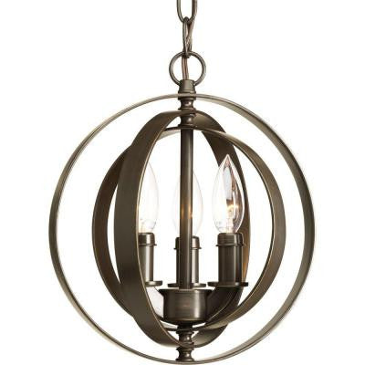 Equinox Collection 3-Light Antique Bronze Pendant