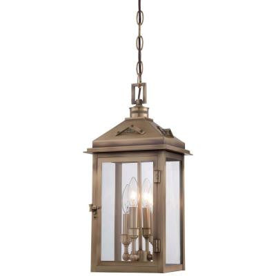 Eastbury 4-Light Colonial Brass Outdoor Chain Hung
