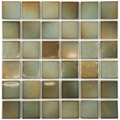 Squire Quad Delta 12-1/2 in. x 12-1/2 in. x 5 mm Porcelain Mosaic Tile