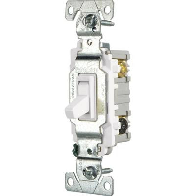 15 Amp 3-Way Light Switch - White