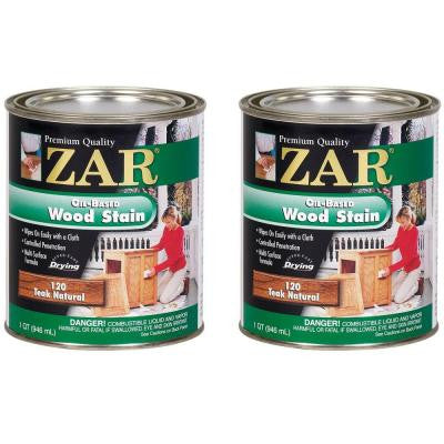 120 1-qt. Teak Natural Wood Stain (2-Pack)